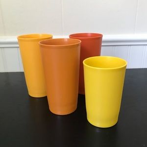 Tupperware Kids Drinking Cups - Vintage